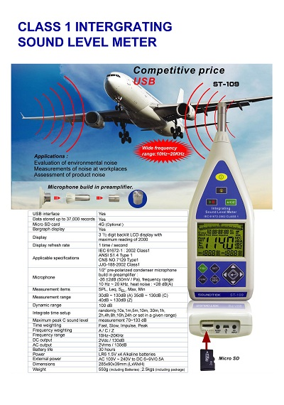 ST-109CLASS 1 INTERGRATING SOUND LEVEL METER